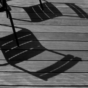 Shadows on a terrace